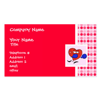 Cute Heart Boxing Double-Sided Standard Business Cards (Pack Of 100)
