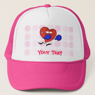 Cute Heart Boxing Trucker Hat