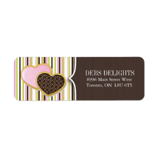Cute Heart Cookie Packaging & Shipping Labels