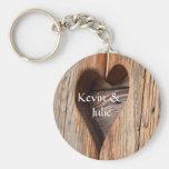 Cute heart cut out keychain