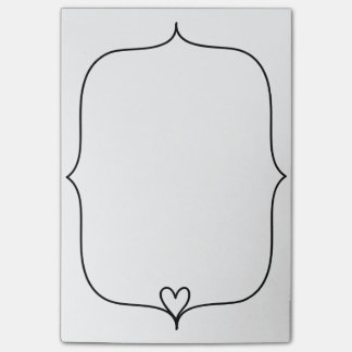 Cute Heart Doodle Border Post-it Notes