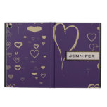 Cute Heart Elegant Modern Darl Purple Powis iPad Air 2 Case