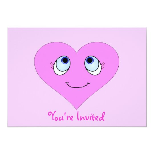 Cute Heart Face Card