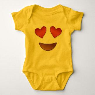 Cute Heart for Eyes emoji Baby Bodysuit