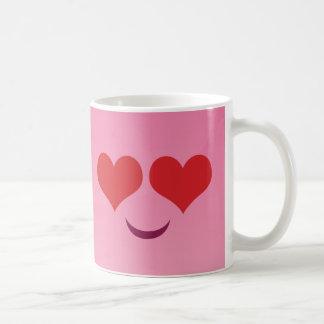Cute Heart for Eyes Pink emoji Coffee Mug