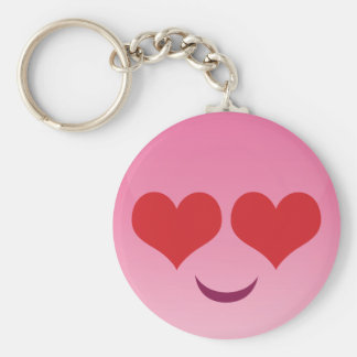 Cute Heart for Eyes Pink emoji Keychain