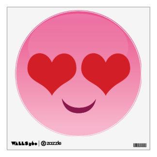 Cute Heart for Eyes Pink emoji Wall Sticker