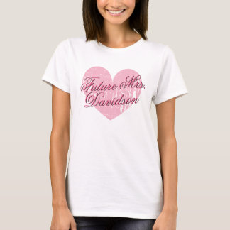 Cute heart Future Mrs t shirt for engagement party