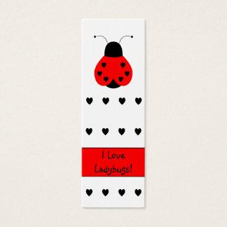 Cute Heart Ladybug Bookmark Mini Business Card