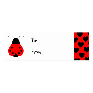 Cute Heart Ladybug Gift Tag Business Card