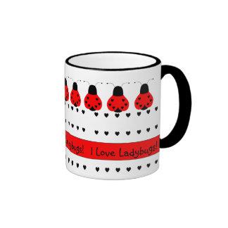 Cute Heart Ladybug Mug
