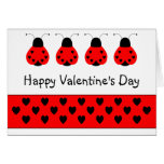 Cute Heart Ladybug Valentine Greeting Card