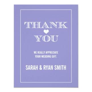 Cute Heart Lavender Wedding Thank You Cards Custom Invitation