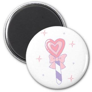 Cute Heart Lollipop 2 Inch Round Magnet