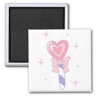 Cute Heart Lollipop 2 Inch Square Magnet