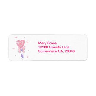 Cute Heart Lollipop Label