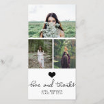"""Cute Heart Love And Thanks Typography Graduate Thank You Card<br><div class=""""desc"""">Cute Heart Love And Thanks Typography Graduate</div>"""