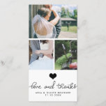 """Cute Heart Love And Thanks Typography Wedding Thank You Card<br><div class=""""desc"""">Cute Heart Love And Thanks Typography Wedding</div>"""