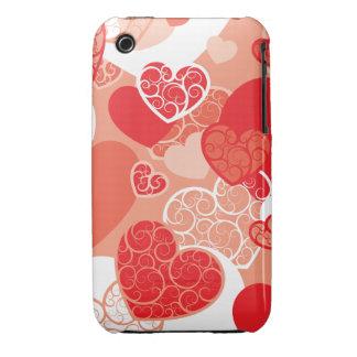 Cute Heart Pattern Case-Mate iPhone 3 Cases