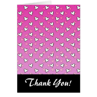 Cute Heart Pattern in Shades of Pink and White Card