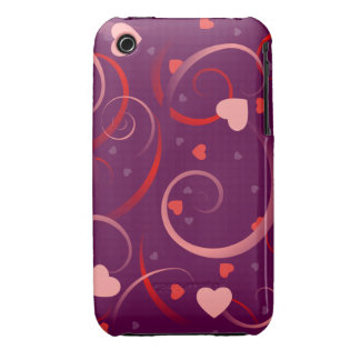 Cute Heart Pattern iPhone 3 Covers