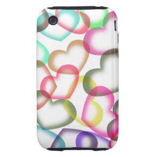 Cute Heart Pattern iPhone 3 Tough Case