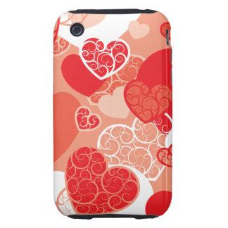 Cute Heart Pattern iPhone 3 Tough Covers