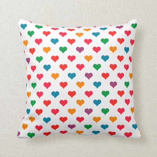 Cute Heart Pattern Pillows Zazzle