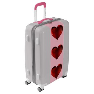 Adorable Red Heart Pattern Suitcase Luggage