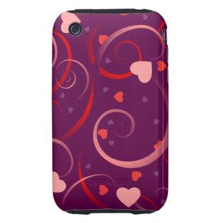 Cute Heart Pattern Tough iPhone 3 Cases
