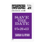 Cute Heart Purple Save the Date Postage