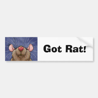 Cute Heart Rat Bumper Sticker