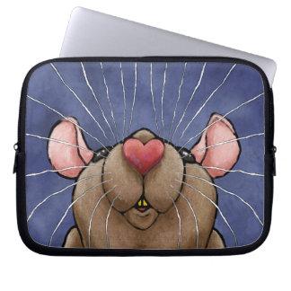 Cute Heart Rat Laptop Bag