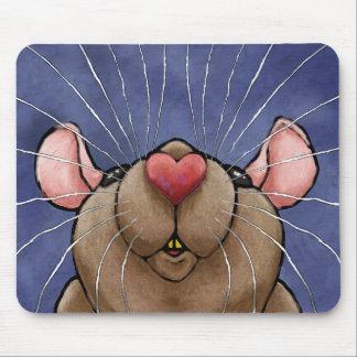 Cute Heart Rat Mousepad