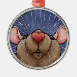 Cute Heart Rat Ornament