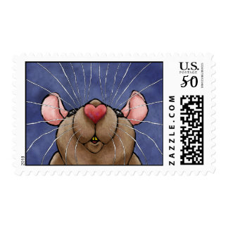Cute Heart Rat Postage Stamp