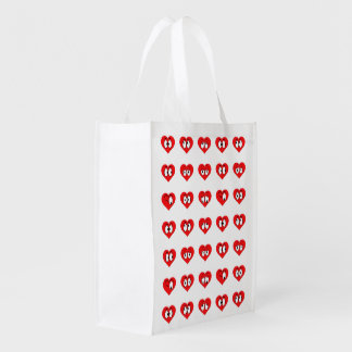 Cute Heart Re-Usage Shopping Bag Grocery Bag