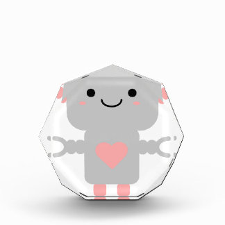 Cute Heart Robot Acrylic Award