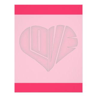 Cute Heart Shaped LOVE Letterhead