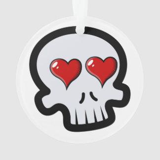 Cute Heart Skulls Cartoon