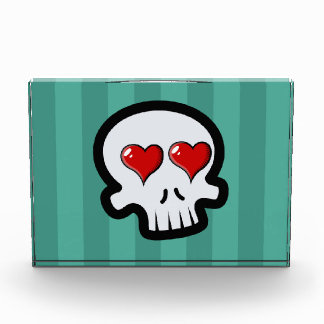 Cute Heart Skulls Cartoon Acrylic Award