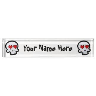 Cute Heart Skulls Cartoon Nameplates