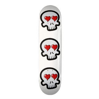 Cute Heart Skulls Cartoon Custom Skateboard