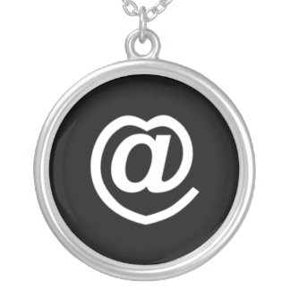 Cute @heart symbol, perfect for your twitter frien round pendant necklace