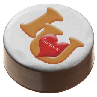 """Cute heart with """"I love you"""" Dipped Oreos"""