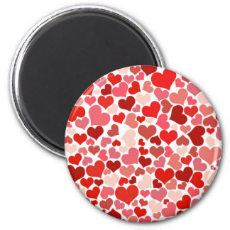 Cute Hearts 2 Inch Round Magnet