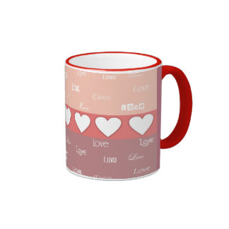 Cute Hearts and Love Valentine's Day Mugs