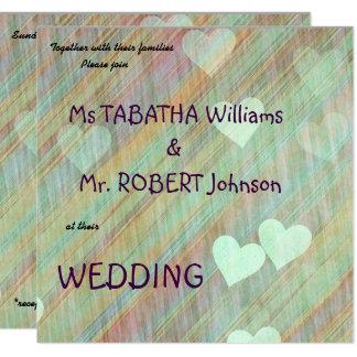 Cute Hearts Background Wedding Invitation