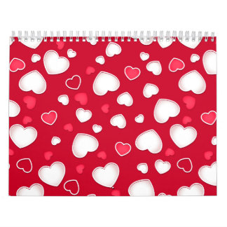 Cute hearts calendar