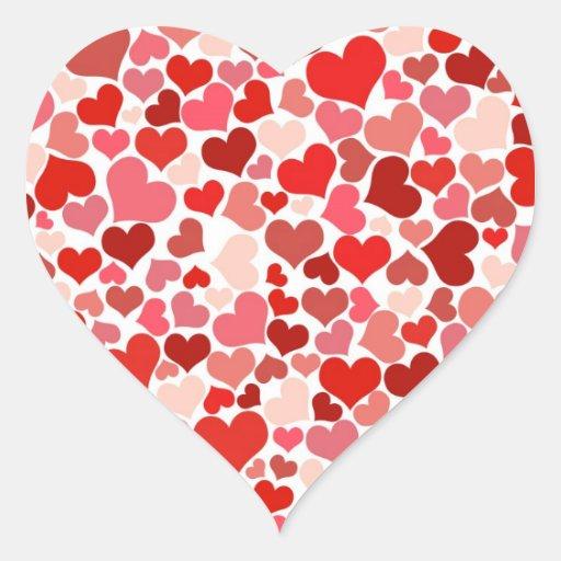 Cute Hearts Heart Sticker | Zazzle